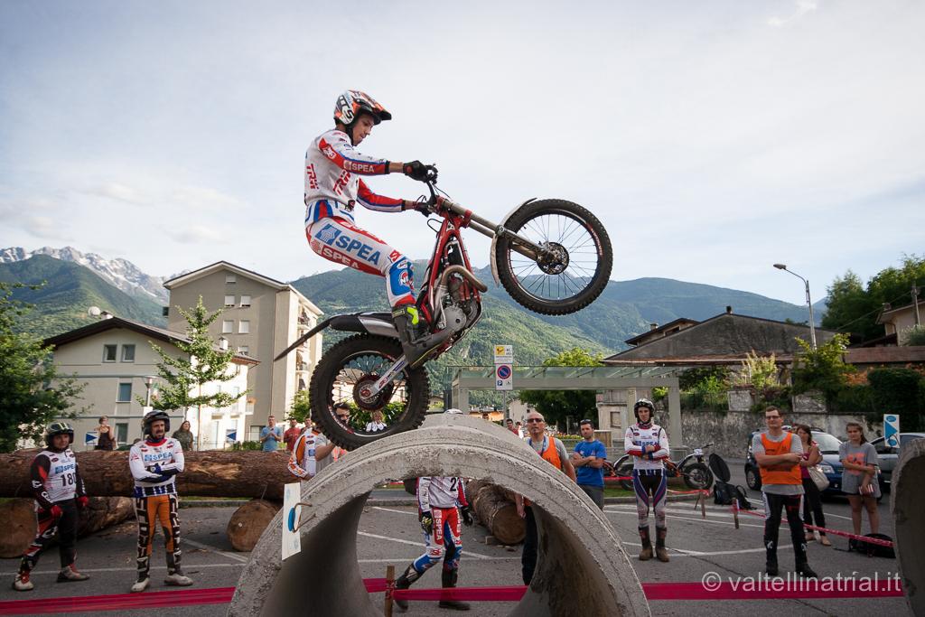 Gianluca Tournour in azione